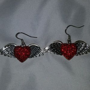 Hearts with Wings earrings